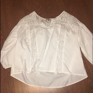 charlotte russe cute white blouse